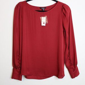 NWT Maroon/Red Blouse from Express- M